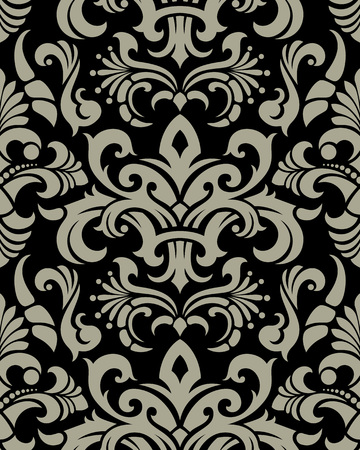 Seamless background from a floral ornament, Fashionable modern wallpaper or textile Stock Vector - 5670514