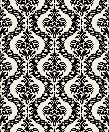 Seamless background from a floral ornament, Fashionable modern wallpaper or textile Stock Vector - 5670528