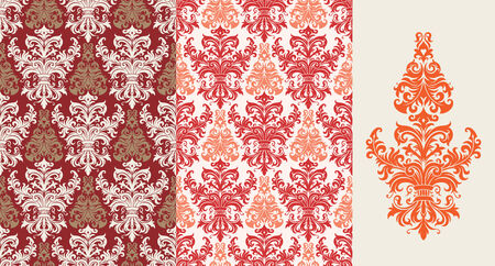 Seamless background from a floral ornament, Fashionable modern wallpaper or textile Stock Vector - 5670570