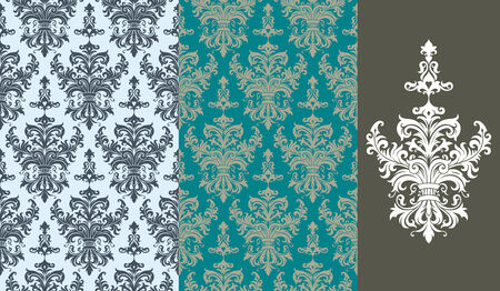 Seamless background from a floral ornament, Fashionable modern wallpaper or textile Stock Vector - 5670563
