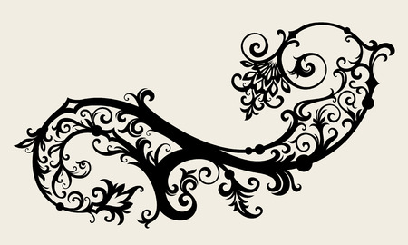 ornament In flower style Stock Vector - 6551096