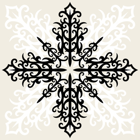 vintage cross In gothic style Vector