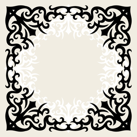 vintage template frame In gothic style Vector