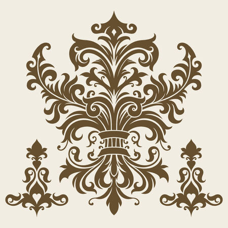 ornament In flower style Stock Vector - 6551077