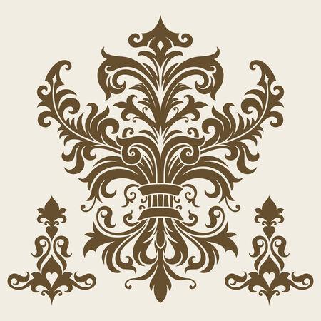 ornament In flower style Illustration