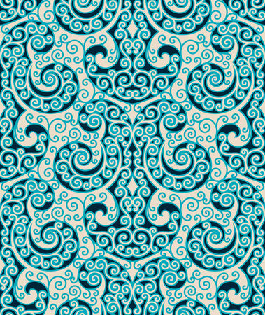 Seamless background from a floral ornament, Fashionable modern wallpaper or textile Stock Vector - 6551141