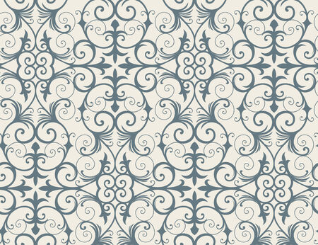 Seamless background from a floral ornament, Fashionable modern wallpaper or textile Stock Vector - 6551095
