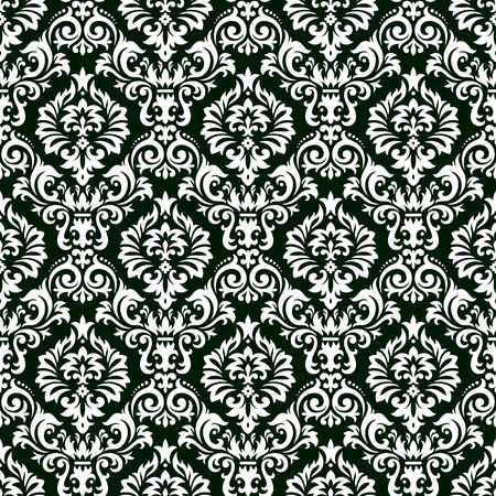 Seamless background from a floral ornament, Fashionable modern wallpaper or textile Stock Vector - 6551128