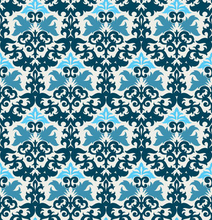 Seamless background from a floral ornament, Fashionable modern wallpaper or textile Stock Vector - 6551159