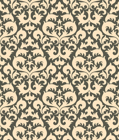 Seamless background from a floral ornament, Fashionable modern wallpaper or textile Stock Vector - 6551086