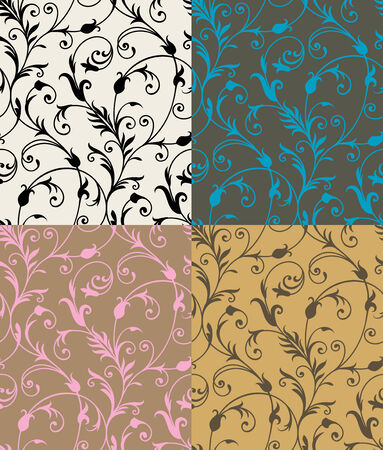 Seamless background from a floral ornament, Fashionable modern wallpaper or textile Stock Vector - 6551187