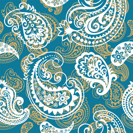 Seamless background from a paisley ornament, Fashionable modern wallpaper or textile Stock Vector - 6551274