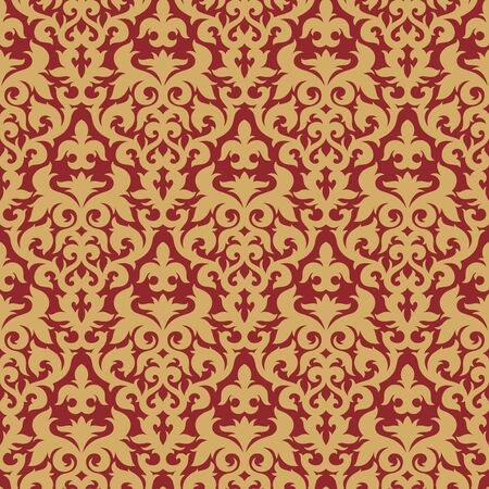 Seamless background from a floral ornament, Fashionable modern wallpaper or textile Stock Vector - 6551182