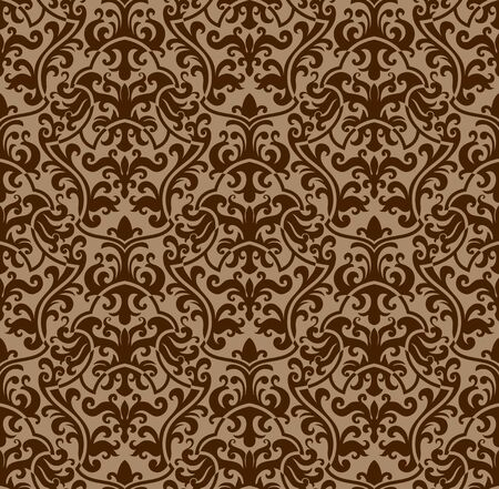 Seamless background from a floral ornament, Fashionable modern wallpaper or textile Stock Vector - 6551189