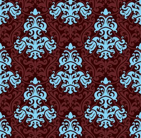 Seamless background from a floral ornament, Fashionable modern wallpaper or textile Stock Vector - 6551191