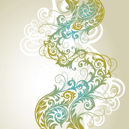 ornament In flower style Vector
