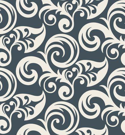 leafs: Sfondo trasparente da ornamento floreale, moda moderni wallpaper o tessili