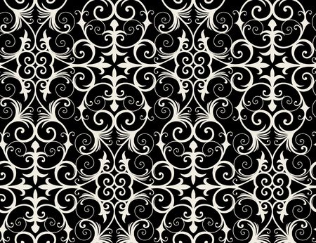 Seamless background from a floral ornament, Fashionable modern wallpaper or textile Stock Vector - 6584681