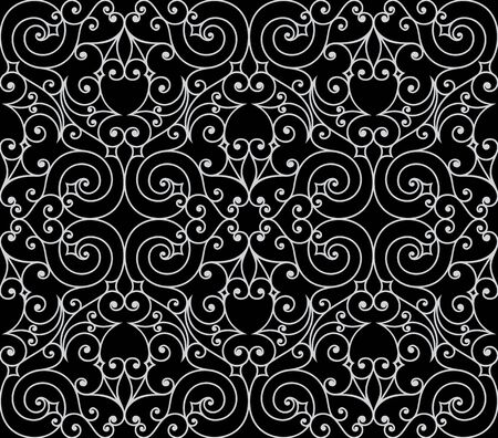 Seamless background from a floral ornament, Fashionable modern wallpaper or textile Stock Vector - 6584683