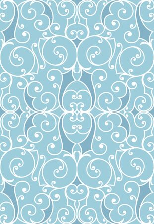 Seamless background from a floral ornament, Fashionable modern wallpaper or textile Stock Vector - 6584727
