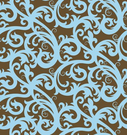 Seamless background from a floral ornament, Fashionable modern wallpaper or textile Stock Vector - 6584692