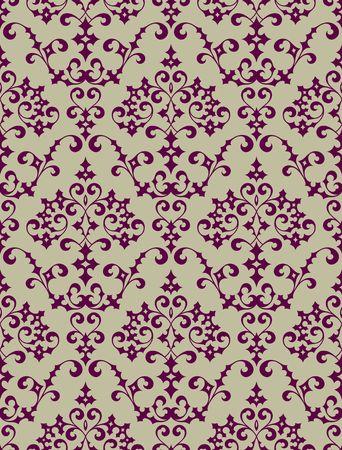 antiek behang: Naadloze achtergrond van een bloem ornament, modieus modern behang of textiel