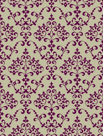 Seamless background from a floral ornament, Fashionable modern wallpaper or textile Stock Vector - 6584684