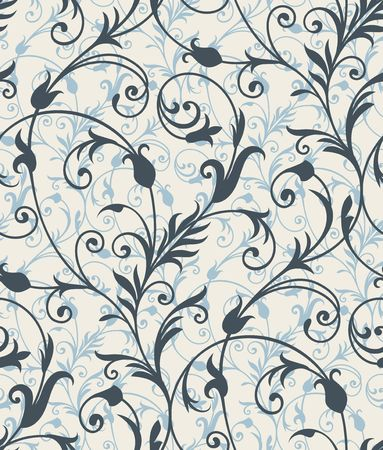 Seamless background from a floral ornament, Fashionable modern wallpaper or textile Stock Vector - 6584685