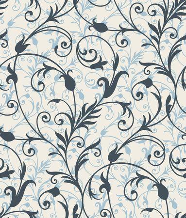 leafs: Sfondo senza soluzione di continuit� da un ornamento floreale, alla carta da parati moderno o tessili