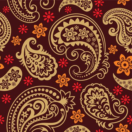 orient: Naadloze achtergrond uit paisley ornament, modieus modern wallpaper of textiel Stock Illustratie