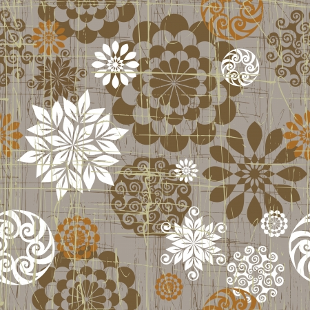 western pattern: Seamless background from a floral ornament, Fashionable modern wallpaper or textile