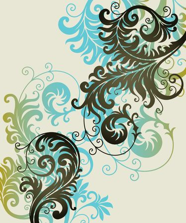 vector ornament In flower style Stock Vector - 6618446