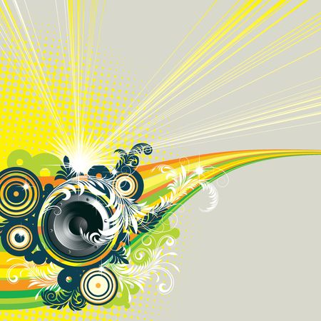 audio electronics: vector background for flyers and more