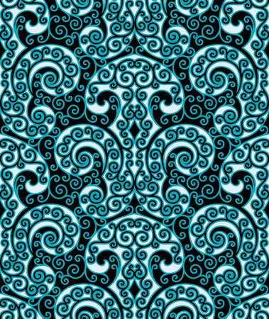 Seamless background from a floral ornament, Fashionable modern wallpaper or textile Stock Vector - 6618512