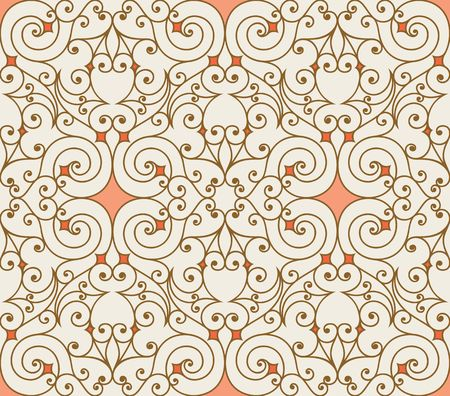 Seamless background from a floral ornament, Fashionable modern wallpaper or textile Stock Vector - 6618534