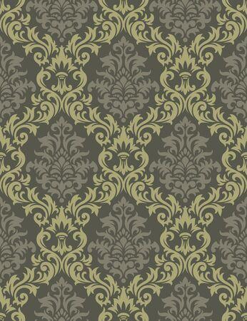 feuillage: Seamless ?artir d'un ornement floral, papier peint moderne ?a mode ou du textile Illustration