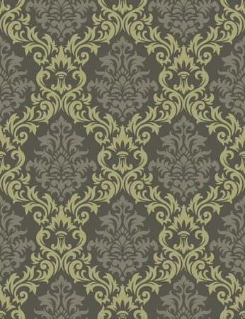 foliages: Seamless background from a floral ornament, Fashionable modern wallpaper or textile