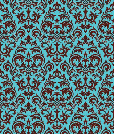 Seamless background from a floral ornament, Fashionable modern wallpaper or textile Stock Vector - 6618249