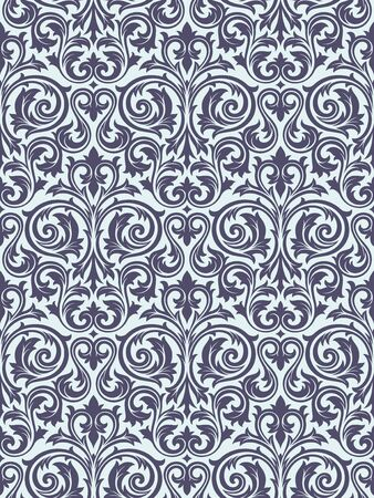 Seamless background from a floral ornament, Fashionable modern wallpaper or textile Stock Vector - 6618252