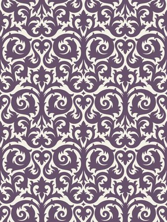 Seamless background from a floral ornament, Fashionable modern wallpaper or textile Stock Vector - 6618245