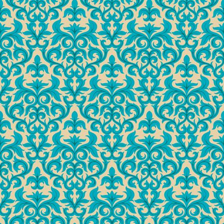 Seamless background from a floral ornament, Fashionable modern wallpaper or textile Stock Vector - 6618455