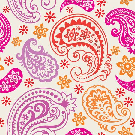 Seamless background from a paisley ornament, Fashionable modern wallpaper or textile Illustration