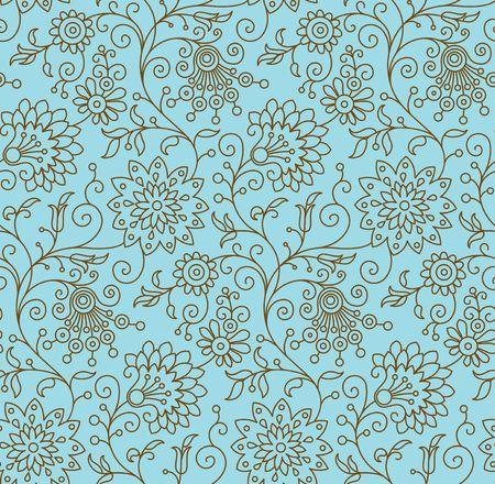 花飾り、ファッショナブルな現代的な壁紙や織物からのシームレスな背景