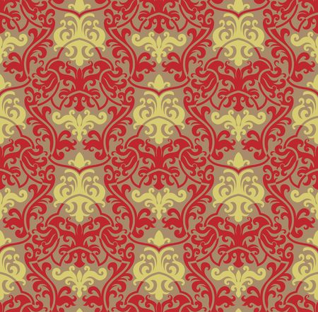 Seamless background from a floral ornament, Fashionable modern wallpaper or textile Stock Vector - 6618259