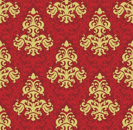 Seamless background from a floral ornament, Fashionable modern wallpaper or textile Stock Vector - 6618257