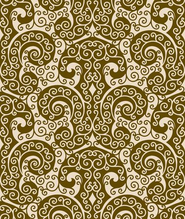 Seamless background from a floral ornament, Fashionable modern wallpaper or textile Stock Vector - 6656429