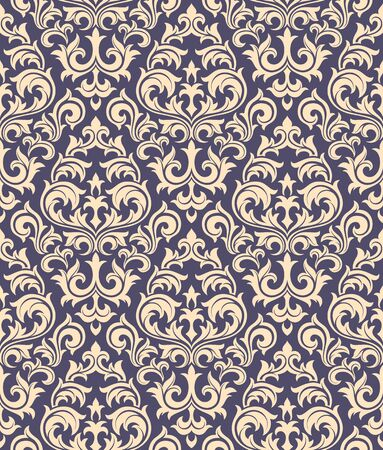 Seamless background from a floral ornament, Fashionable modern wallpaper or textile Stock Vector - 6656426