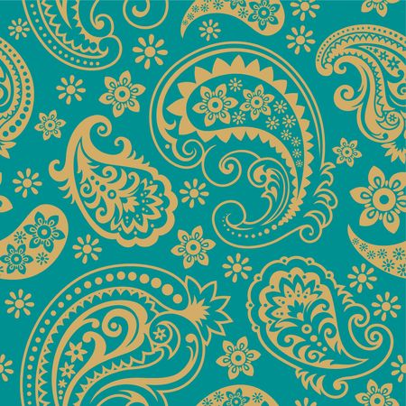 Seamless background from a paisley ornament, Fashionable modern wallpaper or textile Stock Vector - 6656427