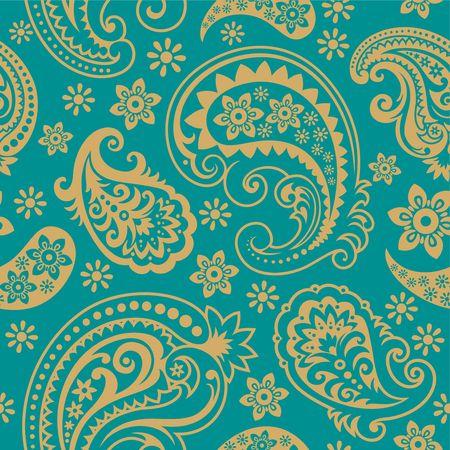 paisley pattern: Seamless d'un ornement, Paisley papier peint à la mode moderne ou textiles Illustration