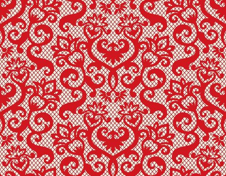lace: Fondo transparente de ornamentos florales, papel tapiz moderna moda o textil  Vectores
